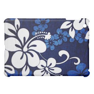 青いハワイのハイビスカスのiPadの箱 iPad Miniカバー