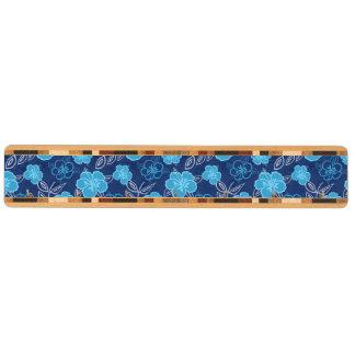 青いハワイのハイビスカスパターン キーラック