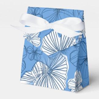 青いハワイの花柄 フェイバーボックス