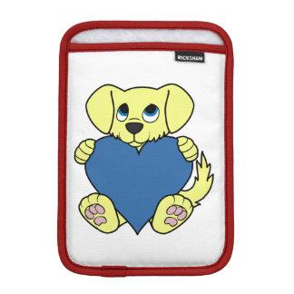 青いハートのバレンタインデーの野良犬 iPad MINIスリーブ