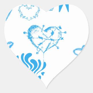 青いハートの狂気 ハートシール