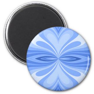 青いハートの蝶抽象芸術 マグネット