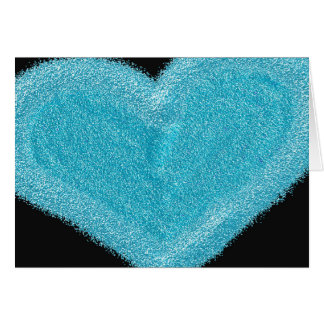 青いハートは婚約カードをカスタマイズ カード
