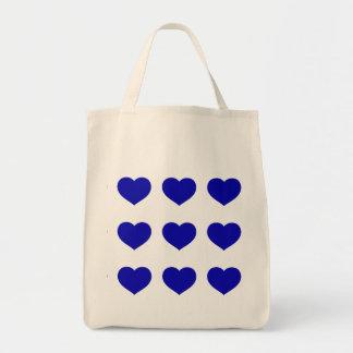 青いハート トートバッグ