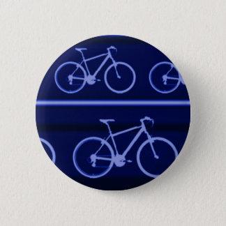 青いバイクはとの縞で飾ります 5.7CM 丸型バッジ