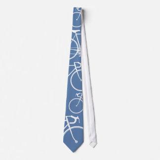 青いバイク周期のタイ ネクタイ