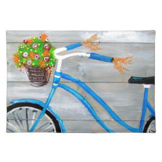 青いバイクZazzle ランチョンマット
