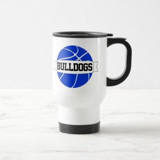 青いバスケットボールのコーチのチーム名前旅行コーヒー・マグ トラベルマグ