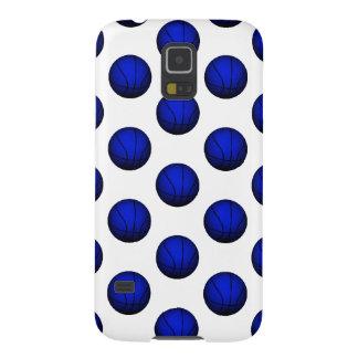 青いバスケットボールパターン GALAXY S5 ケース