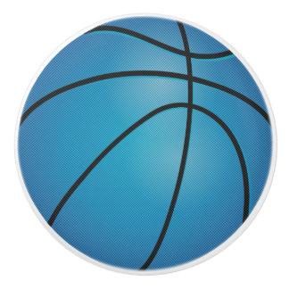 青いバスケットボール セラミックノブ