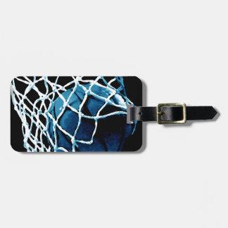 青いバスケットボール バッグタグ