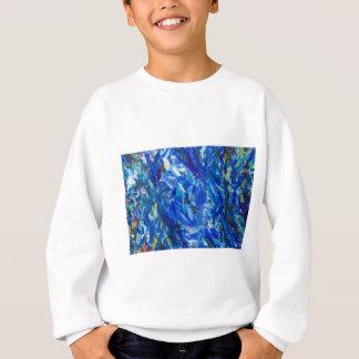 青いバスト(抽象的表現主義) スウェットシャツ