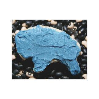青いバッファローの切り出しのクッキーのjjheleneのキャンバス キャンバスプリント