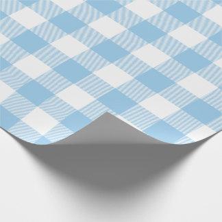 青いバッファローの点検パターン ラッピングペーパー