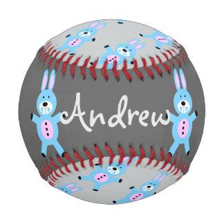 青いバニーの名前入りな野球 野球ボール