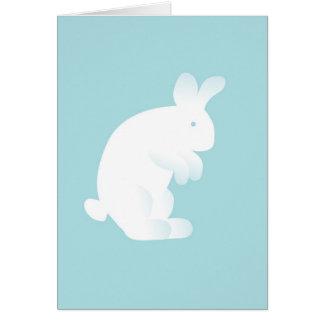 青いバニーの新生児の挨拶状 カード