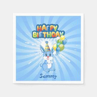青いバニーの誕生日の漫画 スタンダードカクテルナプキン