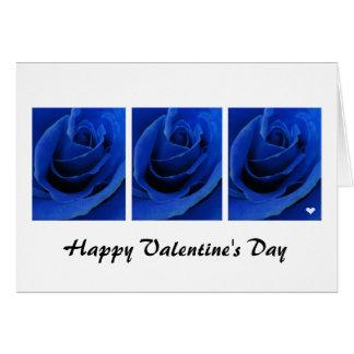 青いバラのバレンタインカード カード