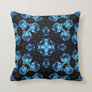 青いバラの白熱枕 クッション