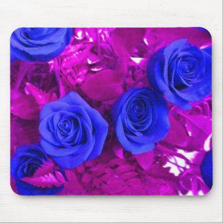 青いバラ2のマウスパッド マウスパッド