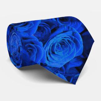 青いバラ ネクタイ
