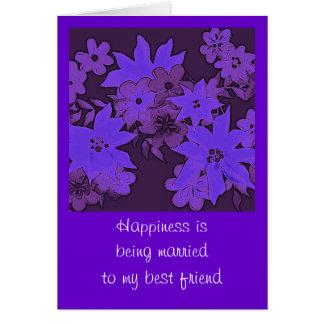 青いバレンタインカード カード