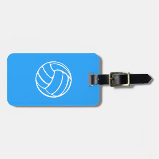 青いバレーボールの荷物のラベル ラゲッジタグ