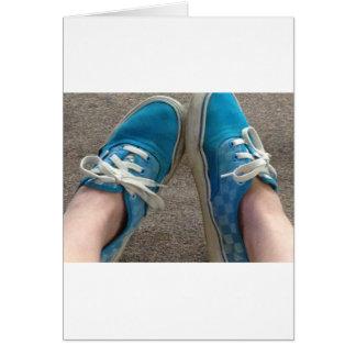 青いバンの靴 グリーティングカード