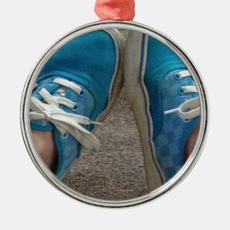 青いバンの靴 メタルオーナメント