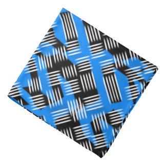 青いバンダナのJimetteのデザインおよび黒の白 バンダナ