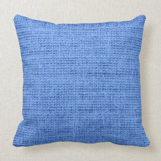 青いバーラップの素朴な麻布 クッション