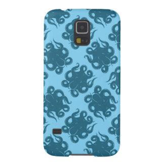 青いパターンのタコ GALAXY S5 ケース
