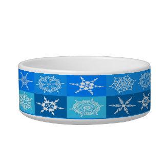 青いパターンの雪片 ボウル
