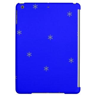青いパターンの雪片 iPad AIRケース