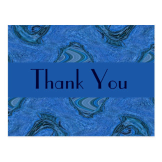青いパターンは感謝していしています ポストカード