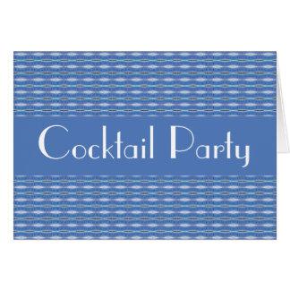 青いパターンパーティの招待状 カード