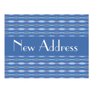 青いパターン移動 ポストカード