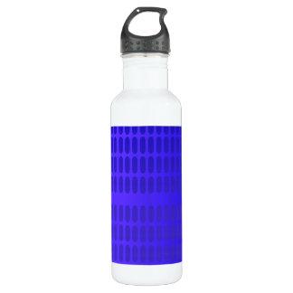 青いパターン ウォーターボトル