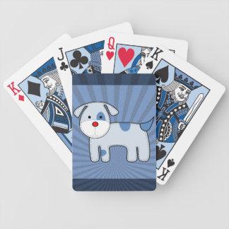 青いパッチの子犬のトランプ バイスクルトランプ