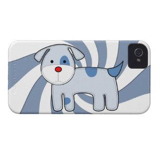 青いパッチの子犬のiPhone 4やっとそこに Case-Mate iPhone 4 ケース