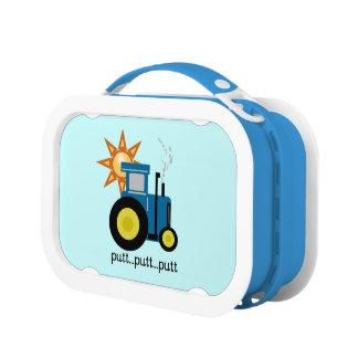 青いパットのパットのトラクターの昼食Boxr ランチボックス