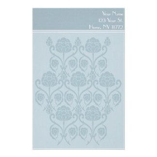 青いパリの花の個人的な文房具 便箋
