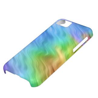 青いパンジーの波状の質 iPhone5Cケース