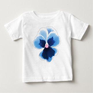 青いパンジーの花201711c ベビーTシャツ