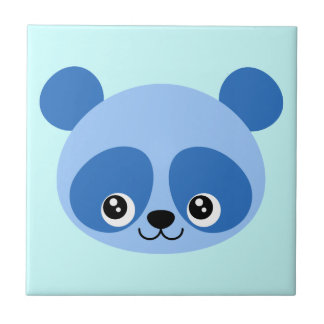 青いパンダ タイル