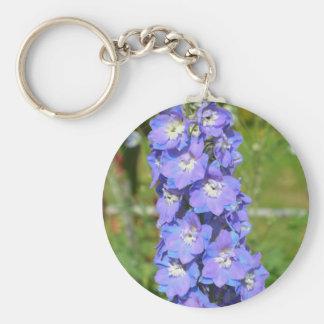 青いヒエンソウの花 キーホルダー