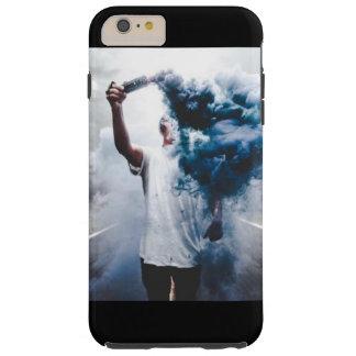 青いヒップスターの煙の背景 TOUGH iPhone 6 PLUS ケース