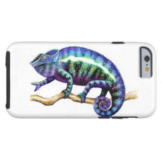 青いヒョウのカメレオンのiPhone 6の堅い場合 ケース
