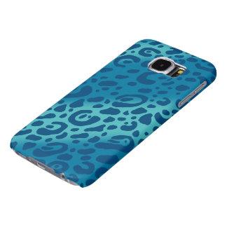 青いヒョウのプリントの銀河系S6の箱 SAMSUNG GALAXY S6 ケース
