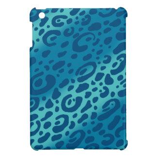 青いヒョウのプリントのiPad Miniケース iPad Mini カバー